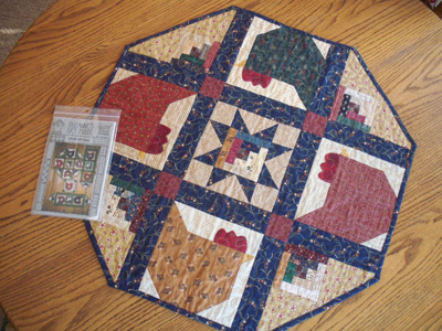 Round Quilted Table Topper Patterns Free Quilt Pattern
