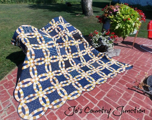 friday finish the double wedding ring - Double Wedding Ring Quilt Templates