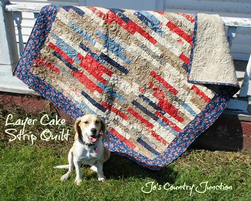 Friday Finish Layer Cake Strip Quilt