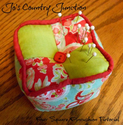 4-Square Pin Cushion Tutorial