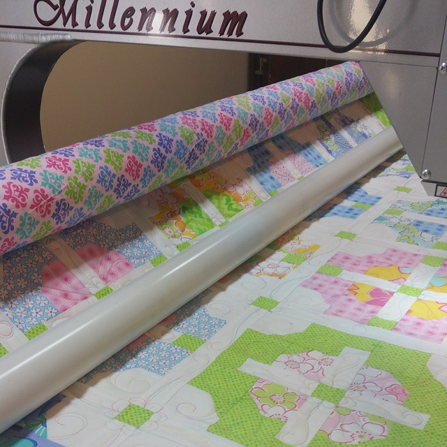 It's a new quilt on the frame!  #joscountryjunction  #longarmquilting