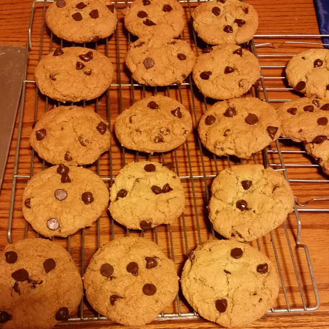 I am busy baking cookies.  The recipe is on the blog.  #joscountryjunction  #chocolatechipcookies