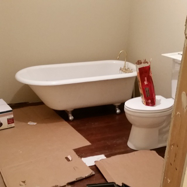 It's starting to look like a bathroom #joscountryjunction