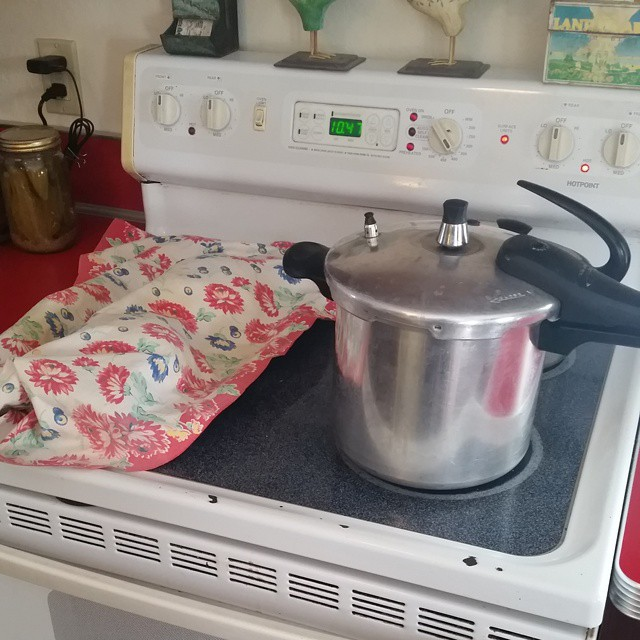Happiness is...homemade soup in the pot and bread rising on the stove.  #joscountryjunction