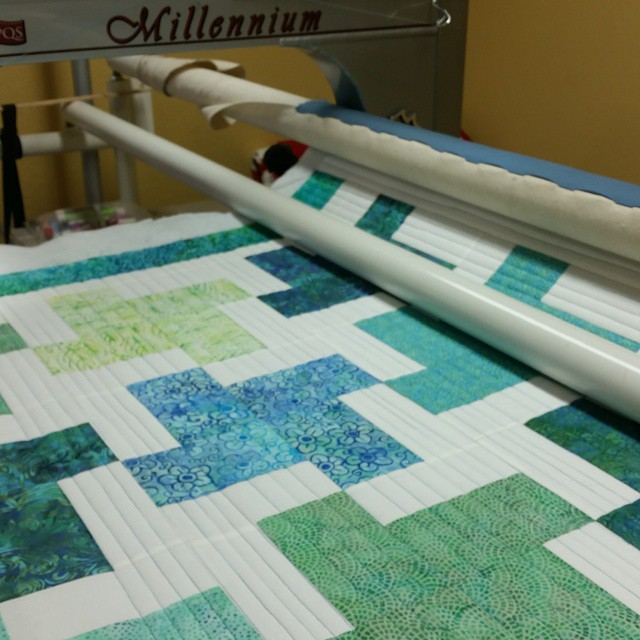 Trying straight line quilting.  #joscountryjunction
