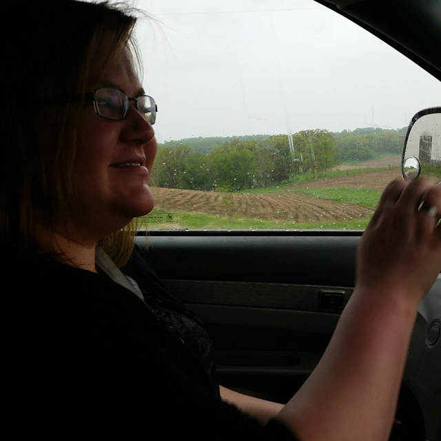Kelli and Jo traveling....but what's this?  Kelli is driving!! #joscountryjunction