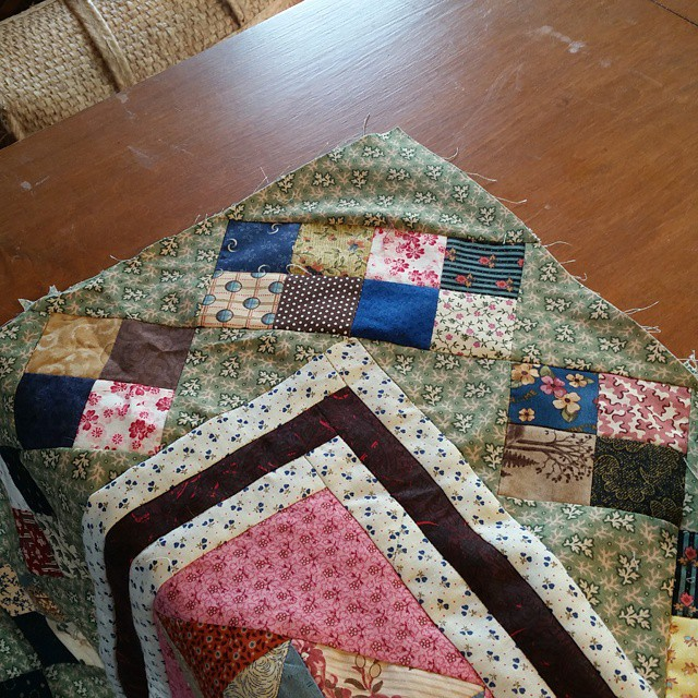 Ugh...so close.  I twisted the corner 4patches.  Time to seam rip.  #joscountryjunction #quiltville