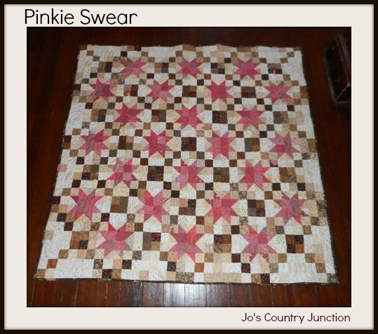 A Free Printable Quilt Pattern Pinkie Swear