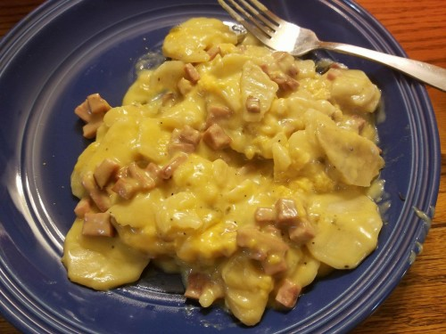 Scalloped-potatoes-with-Ham-Instant-pot